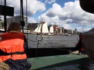 Ausflug in den Hamburger Hafen.